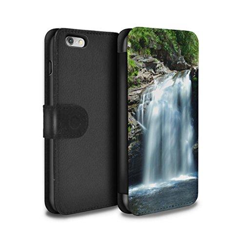 STUFF4 PU-Leder Hülle/Case/Tasche/Cover für Apple iPhone 6 / Wasserfall Muster / Schottisch Landschaft Kollektion Wasserfall