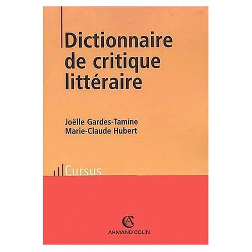 Dictionnaire de critique littéraire. 2ème édition