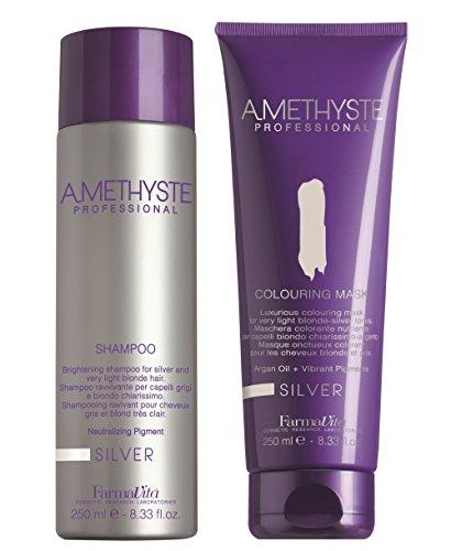 Farmavita Amethyst Silver Set  Shampoo (250ml) + Colouring Ring Mask (250ml) 6dab98137a10
