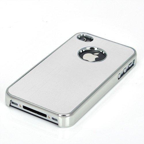 Apple iPhone 4 / 4S Cover Alu Hard Case Schutz Hülle Metall Bumper Chrom - 4s Aluminium Iphone Bumper Case
