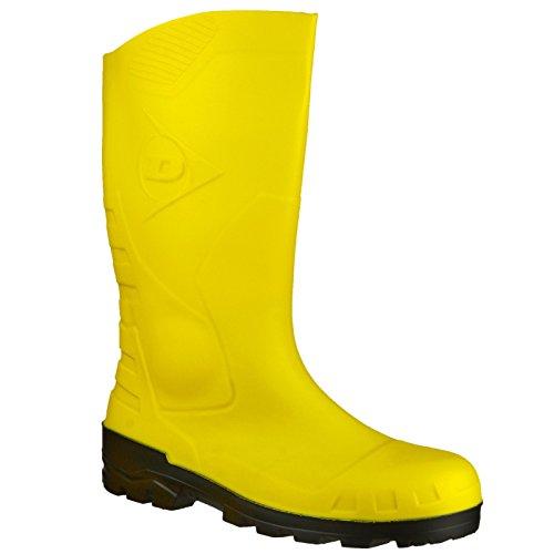 Dunlop Devon Unisex Yellow Safety Wellington Boots