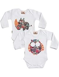 Rhino And Owl Babygrow Set