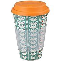 Cambridge CM04438 Retro Daisy Bamboo Eco Travel Mug