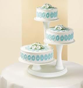 3 Tier Pillar Cake Stand Amazon De Sport Freizeit