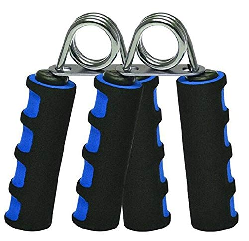 2 unidades Juego de mano Grip Fortalecedor,, mano pinza de agarre de dedo – Ejercitador de dedos para rápidamente creciente muñeca antebrazo y dedo fuerza, azul