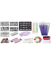 Royalkart Combo Of 3D Nail Art Stamping Kit 5 Rectangular Image Plates, Silicone Stamper & Scraper & 3D Nail Art Tools