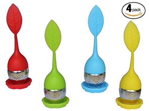 coffsky-infusore-foglia-colino-set-di-4silicone-tea-infusers-foglie-sfuse-tisana-guida-inclusi