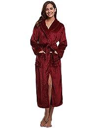 Aibrou Unisex Calientes Albornoz Invierno Batas Kimono Baño para Hombre y Mujer,Suave Comodo y Agradable
