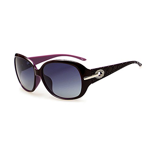 892e5be873 BVAGSS Gafas de Sol Polarizadas para Mujeres Moda Protección UV WS045