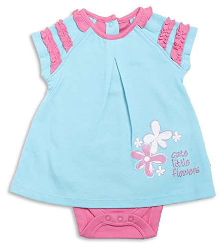 FS Mini Klub Baby Girls' Dress (83081E LT BLU6-9M, Blue, 6-12 Months)  available at amazon for Rs.274