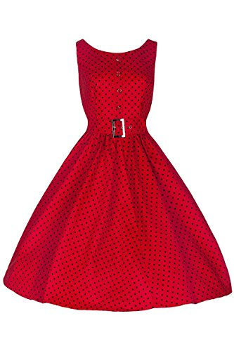 Blooming Jelly - Robe - À Pois - Femme Rouge