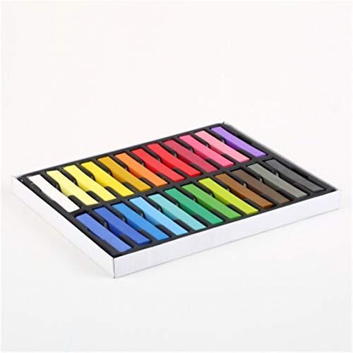 24 Farben ungiftig Weiche Haarstifte Pastell Kit Temporäre Kreidefarbe Personalisierte Schönheit Haarfarbe für DIY Frisur