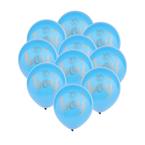 Sharplace 10pcs Globos de Látex written 'Its a Boy' para Baby Shower Bautizos Cumpleaños de Niños