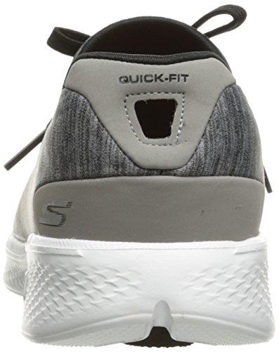 Skechers Go Walk 4 A.D.C, Baskets Basses Femme Gris (Gybk)