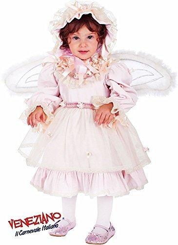 Fancy Me Italian Made Baby & Kleinkinder Mädchen rosa Rüschen Fee mit Flügeln Prinzessin Festzug Karneval Halloween Kostüm Kleid Outfit 0-3 Jahre - Rosa, 0 Years
