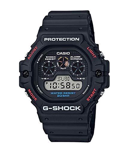 Casio Herren Digital Quarz Uhr mit Harz Armband DW-5900-1ER