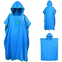 Bata de microfibra ele Eleoption con capucha, compacta y ligera, ideal como toalla de