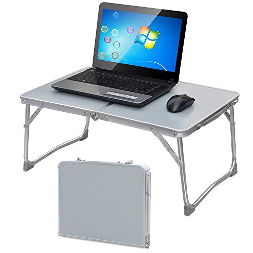 Popamazing 62x41x28cm Portable Folding Computer PC Laptop Table Bed Desk Home Office Furniture (White)
