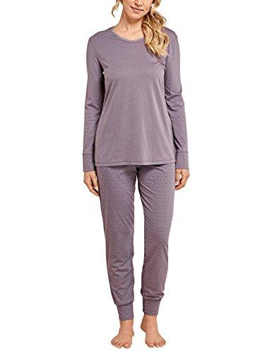 Schiesser Damen Zweiteiliger Schlafanzug Selected Premium Anzug Lang, Braun (Nougat 309), 40 (Herstellergröße: 040) (Mädchen-schlafanzug Braune)