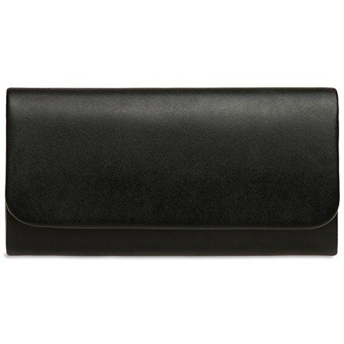 CASPAR TA404 Damen Baguette Clutch Tasche Abendtasche, Farbe:schwarz;Größe:One Size