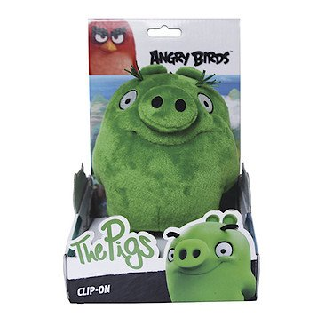 Angry Birds - Green Pig Plush - Movie - Clip on - 10cm 4""
