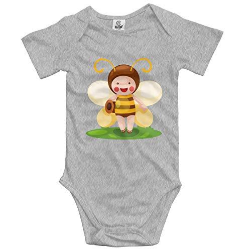 Klotr Unisex Baby Body Kurzarm Bee Kid Newborn Bodysuits Baumwolle Strampler Outfit Set (Ein Mädchen Ein Yoshi Ist Oder Junge)