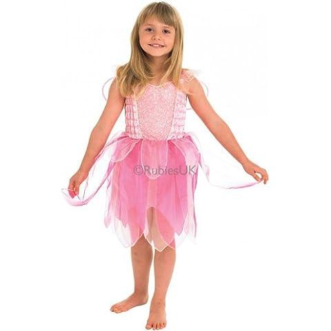 Fantasía de Carnaval de vestuario vestido de las muchachas: Hada del bosque - Talla L: 7-8 años (altura 128cm)