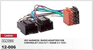 Carav 12 006 Autoradio Iso Adapterkabel Für Chevrolet Captiva Epica Spark Saab 9 5 Auto