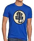 style3 Goku Roshis Turtle School Camiseta para Hombre T-Shirt, Talla:M;Color:Azul