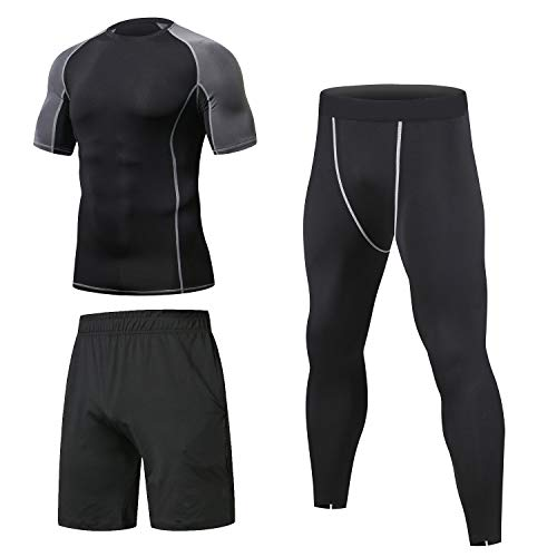 Niksa 3 Pcs Mens Fitness Gym Clo...