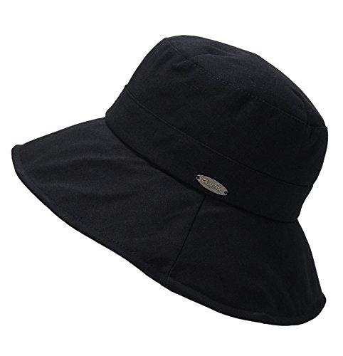 EEVASS Damen Bucket Hat Fischerhüte Outdoor Sommerhut (# Schwarz)