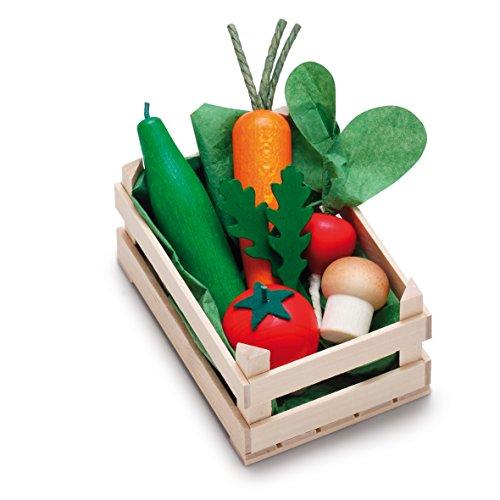 Erzi assortimento di verdure scatole di legno, piccoli, cibo giocattolo, Negozio degli...