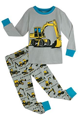 Digger Kostüm - Mombebe Kinder Junge Flugzeug Schlafanzug Pyjama