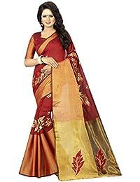 Calendar Womens Cotton Silk Saree (Cs809_12 _Red _Free Size)