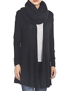 iB-iP Mujer Lana Cuello Polaina Maxi Abrigos de la bufanda