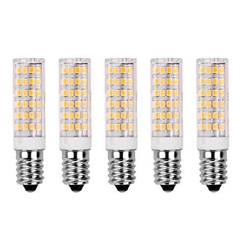 7W E14 LED Glühlampe - SanGlory 5 Stück E14 LED Leuchtmittel 520LM Warmweiß 3000K,60W Halogenlampen Ersatz,360° Abstrahlwinkel 75 X 2835 SMD LED Lamp E14 AC 220-240V (5er Pack) -