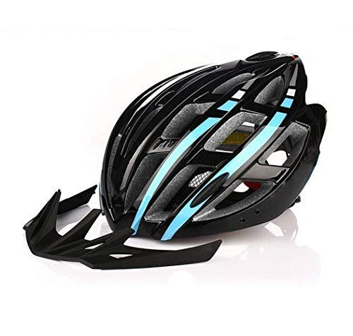 HaoLiao Helm Reithelm Fahrradhelm Mountainbike Nacht Reiten EIN Licht Helm-Blue1 Skifahren Im Freien
