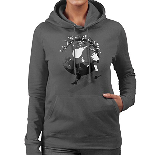 Final Fantasy Circle Fantasy Women's Hooded Sweatshirt Anthracite