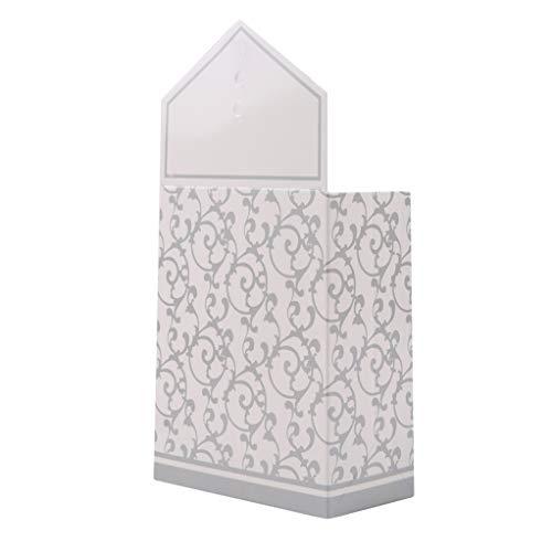 SEVENHOPE 10 Teile/Paket Hochzeit Dekoration Gefälligkeiten Party Geschenktüte Kreative Pralinenschachtel DIY Papiertüten Mit Bändern (Silber)