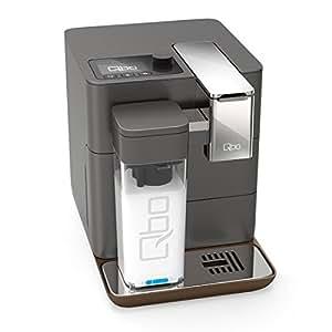 Qbo You-Rista inkl. Milchaufschäumer – Kaffee Kapselmaschine für Caffè Crema, Espresso und Caffè Grande wie vom Barista (19 Bar, 1500 Watt, 0, 9 Liter) urban grey