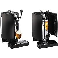 Bierzapfanlage für 5 Liter Fässer Zapfanlage mit Kühlung Druckbelüftet für Tollen Bierschaum (Temperaturanzeige, Abnehmbare Tropfschale, Kühlsystem, 65 Watt)