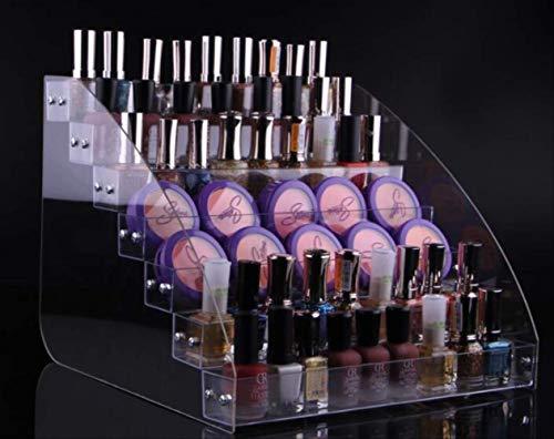 KWOSJYAL DIY transparentem Kunststoff acryl abnehmbare Montage Lipgloss nagellack Sonnenbrille Speicher Kosmetik Display mädchen Geschenk7 Schichten