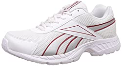 Reebok Mens Acciomax LP Silver, White, Black and Red Running Shoes - 9 UK