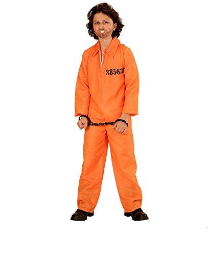 NGENER - Größe 128 cm ( 5-7 Jahre ) , County Jail Sträfling Gefangener Häftling Knastbruder orange (Halloween Orange County)