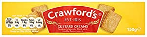 Crawfords Custard Cream Biscuits 150 g (Pack of 12)