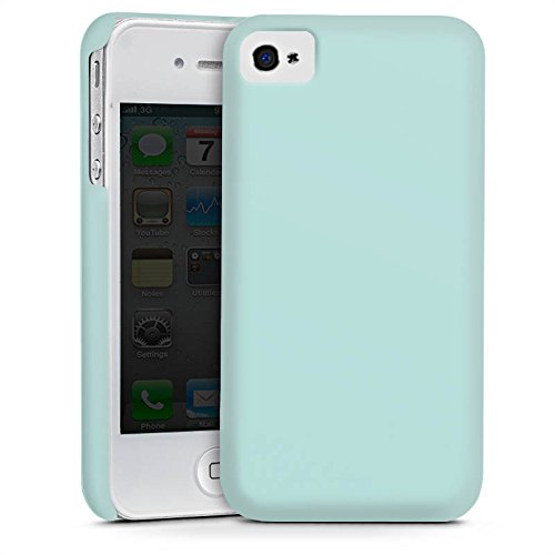 Apple iPhone 5s Housse étui coque protection Aigue-marine Bleu pâle Verdoyant Cas Premium mat