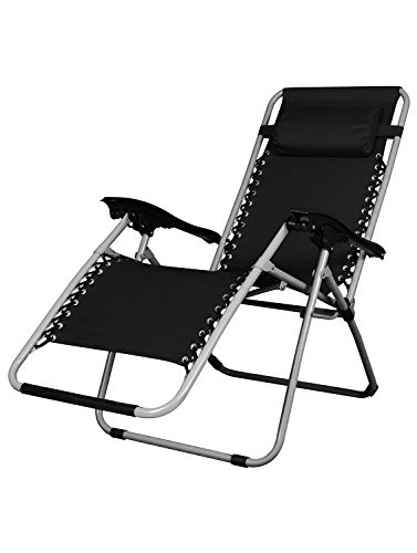 Incredible Story Home Folding Zero Gravity Lounge Chair Reclining Relax Chair With Adjustable Head Rest For Indoor And Outdoor Use Dark Black Uwap Interior Chair Design Uwaporg