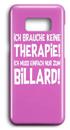 shirt-o-magic Handyhülle Snooker: Therapie? Lieber Billard - Case -Samsung S7-Pink