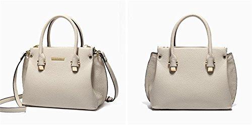 Xinmaoyuan Damen Handtaschen der Frauen aus Rindsleder Handtasche Lychee Muster wilde Kreuzung Schulter Messenger, Weiß Weiß