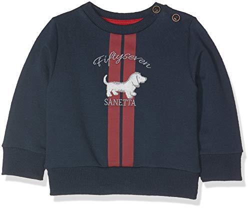 Sanetta Baby-Jungen Sweatshirt, Blau (Deep Blue 5993.0), 86